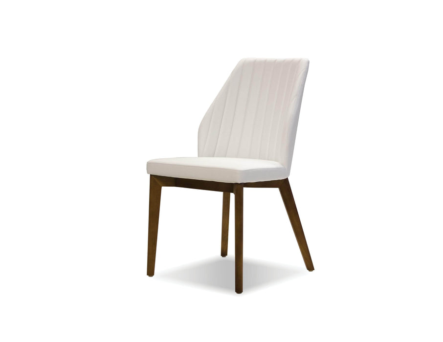 Pending - Mobital Dining Chair White Totem Leatherette  Dining Chair With Ash Wood Set Of 2 - Available in 2 Colors
