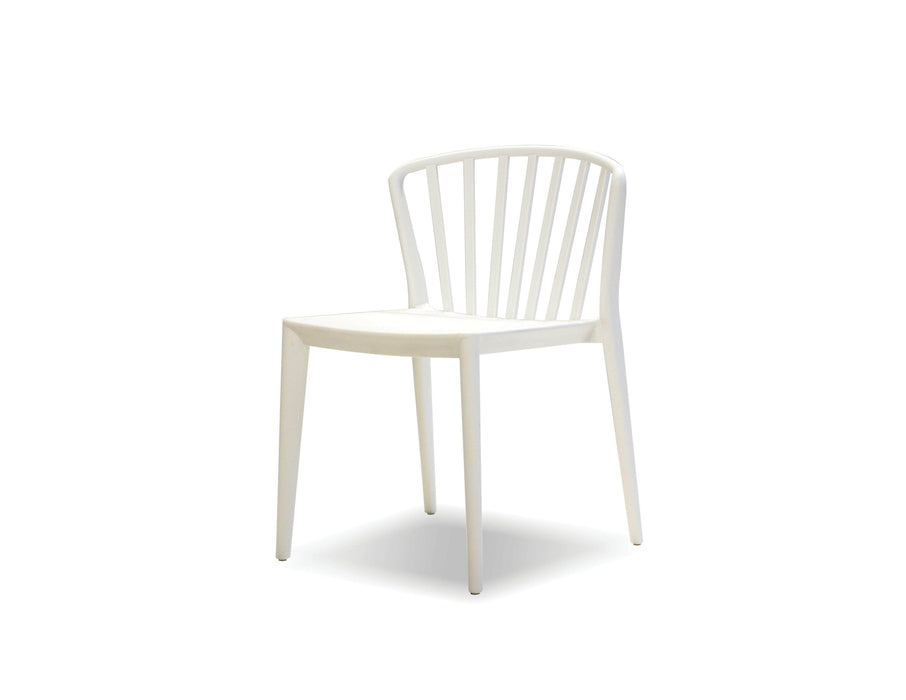 Mobital Windsor Dining Chair in White Polypropylene (Set of 4)