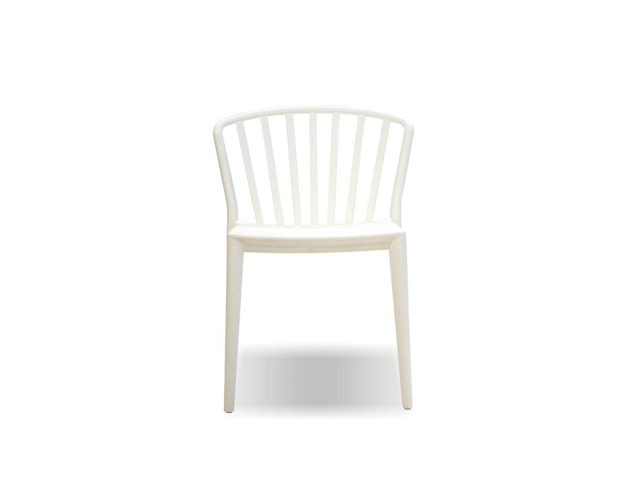 Mobital Dining Chair White Windsor Dining Chair White Polypropylene Set Of 4