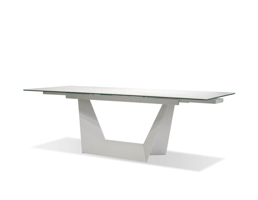 "Mobital Origami 98.5"" Long Extending Dining Table with Carerra Ceramic Top"