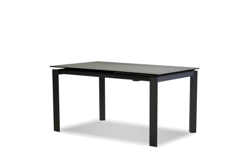 Mobital Casper Extendable Dining Table with Concrete Grey Ceramic Top and Grey Powder Coated Base