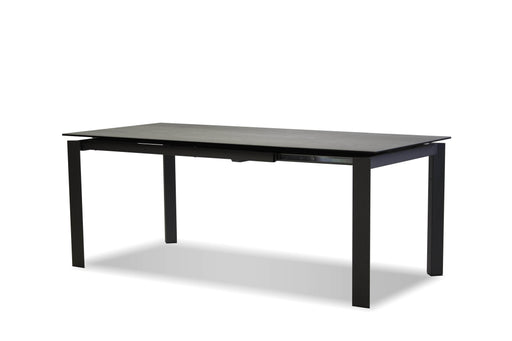 Mobital Dining Table Grey Casper Dining Table Concrete Grey Ceramic With Grey Powder Coated Base