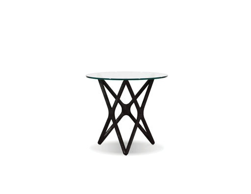 "Mobital End Table Black Quasar 20"" Low End Table Clear Glass  - Available in 2 Colors"