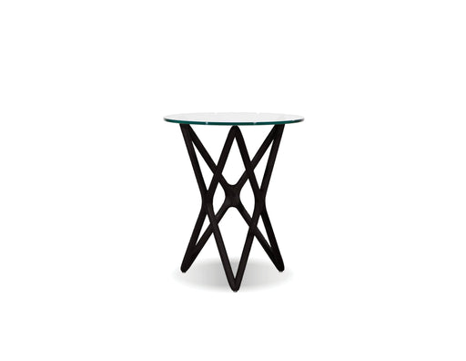 "Mobital End Table Black Quasar 22"" Tall End Table Clear Glass  - Available in 2 Colors"