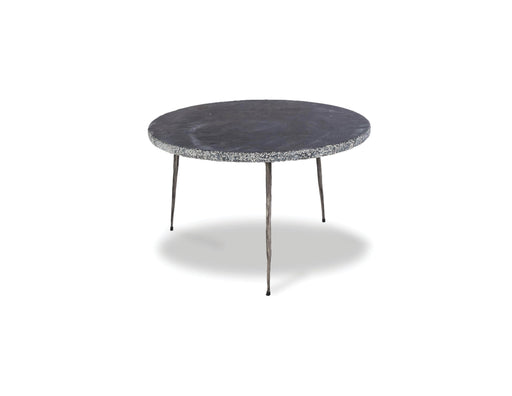 "Mobital Kaii 13"" Low End Table with Distressed Forged Black Iron Legs"