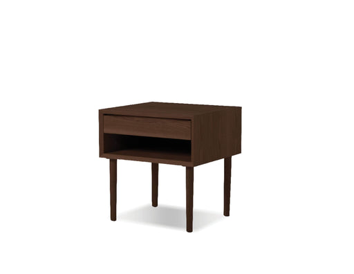 Mobital Garbo 1 Drawer Nightstand with Shelf in Natural Walnut