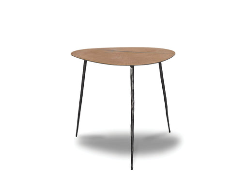 "Mobital Oakley 18"" Low End Table in Oak Veneer with Black Iron Legs"