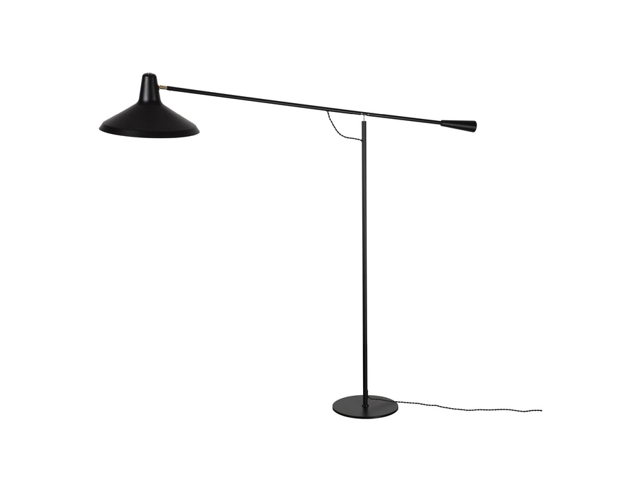 Mobital Cantilever Black Floor Lamp with Aluminum Lampshade