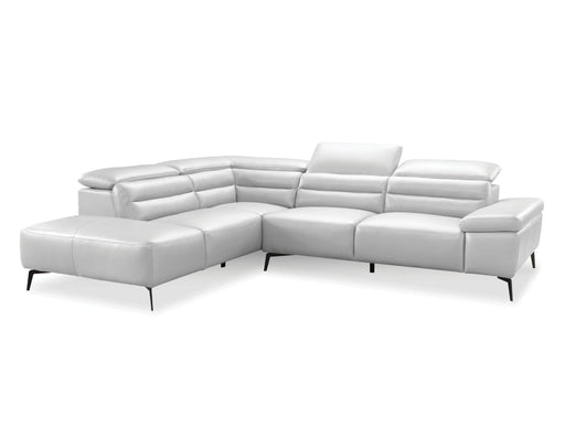 Mobital Left Side Facing Silver Camello Leather Sectional Left Side Facing With Black Powder Coated Legs - Available in 3 Colors