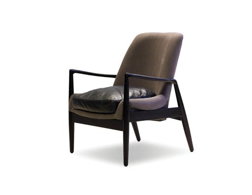 Mobital Reynolds Lounge Chair with Distressed Leather Seat Cushion