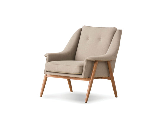Pending - Mobital Lounge Chair Sand Tweed Fabric With Ash Stained Light Walnut Parry Lounge Chair - Available in 2 Colors