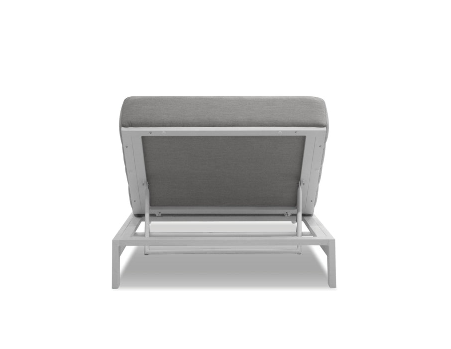 Mobital Lounge Chair Sunbrella Heather Grey Hanlan Lounge Chair Sunbrella Heather Grey Fabric With White Frame