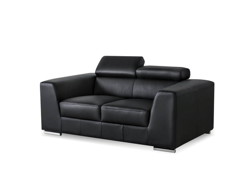 Mobital Icon Loveseat in Premium Top Grain Leather Upholstery with Side Split