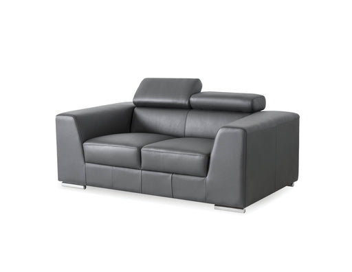 Mobital Love Seat Dark Grey Icon Love Seat Premium Leather With Side Split - Available in 3 Colors