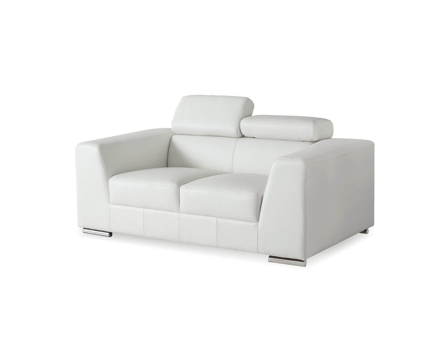 Mobital Love Seat White Icon Love Seat Premium Leather With Side Split - Available in 3 Colors