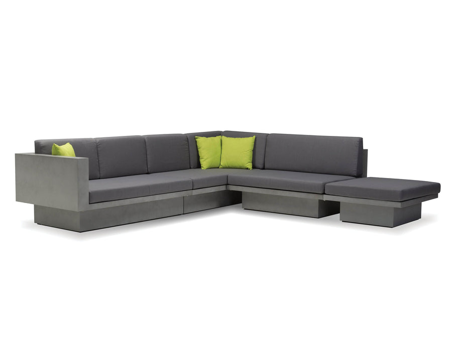 Mobital LSF Sectional Grey Sancho Lsf Sectional Grey Fabric With Epoxy Concrete Texture