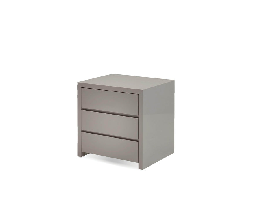 Mobital Night Table High Gloss Stone Blanche 3-Drawer Night Table - Available in 2 Colors