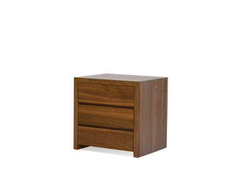 Mobital Night Table Natural Walnut Blanche 3-Drawer Night Table - Available in 2 Colors