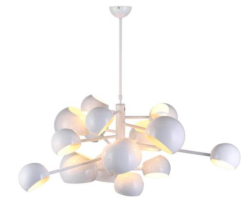 Mobital Molecule 14-Head Pendant Lamp in High Gloss White