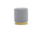Mobital Pouf Grey Velvet / Tall Pillbox Low Pouf With Electroplated Gold Base - Available in 2 Colors and Heights