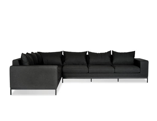 Mobital Sectional Charcoal Grey Jericho Sectional Sunbrella Charcoal Grey Fabric With Black Frame
