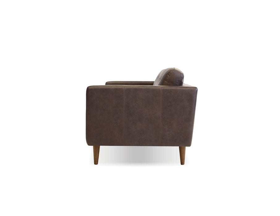 Mobital Sofa Chocolate Baldwin Sofa Vintage Chocolate With Wood Legs Stained In Tea