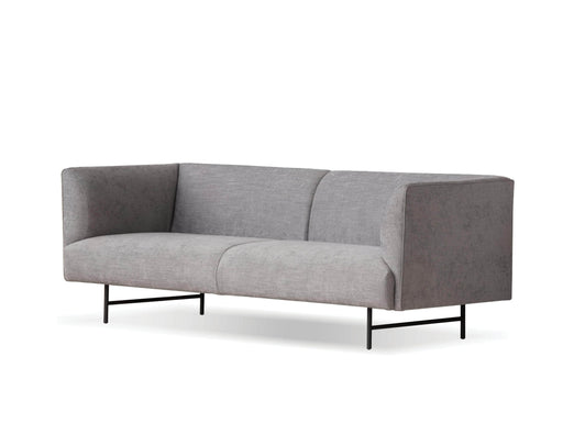 Mobital Rockford Sofa in Grey Fabric with Black Power Coated Steel
