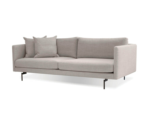 Mobital Sofa Light Grey Tux Sofa Light Grey Fabric With Black Power Coated Steel