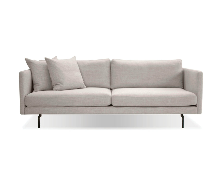 Mobital Tux Sofa in Light Grey Fabric with Black Power Coated Steel