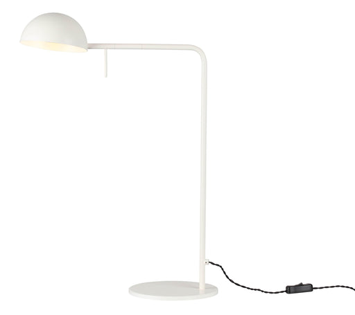 Mobital Table Lamp Matte White Bowie Table Lamp Matte White Steel Lampshade With Matte White Stem