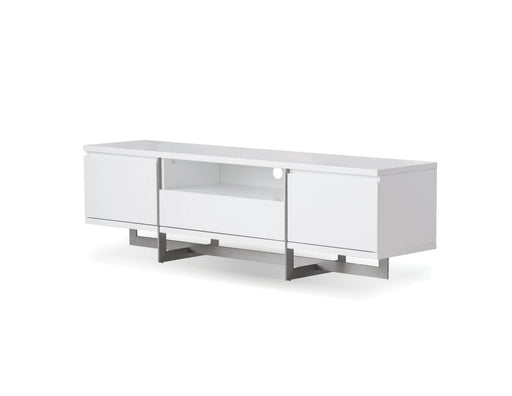 Mobital Remi TV Stand with Brushed Stainless Steel