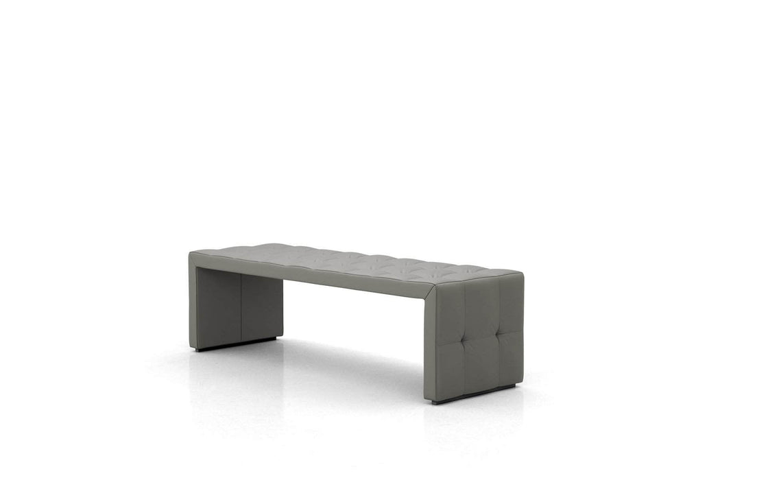 Pending - Modloft Benches Broad Bench in Warm Gray Leather