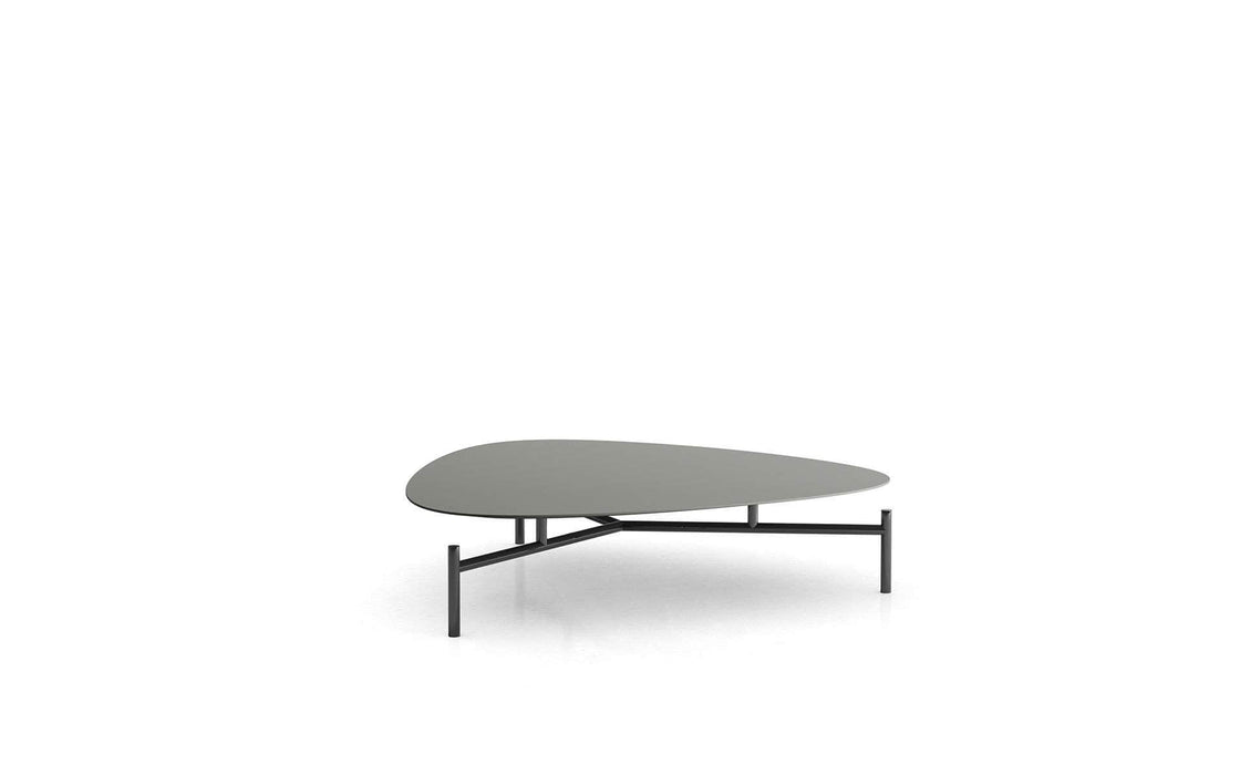 Pending - Modloft Coffee Tables Gray/Polished Onyx Finsbury Low Coffee Table - Available in 2 Colors