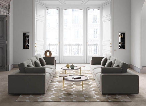 Pending - Modloft Coffee Tables Shubert Coffee Table in Chateau Gray and Gold