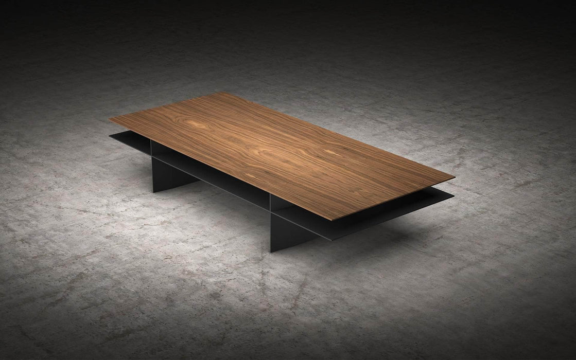 Pending - Modloft Coffee Tables Walnut/Metallic Graphite Kensington Coffee Table - Available in 2 Colors