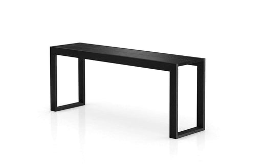 "Pending - Modloft Consoles Black Crocco Reclaimed Leather Hanover 79"" Console - Available in 2 Colors"