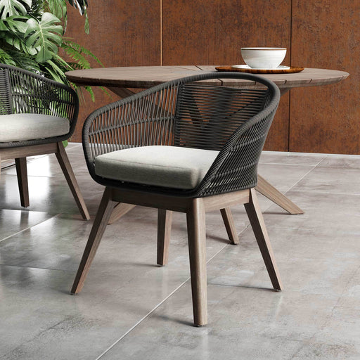 Pending - Modloft Dining Chair Jesper Outdoor Dining Chair in Dark Gray Cord