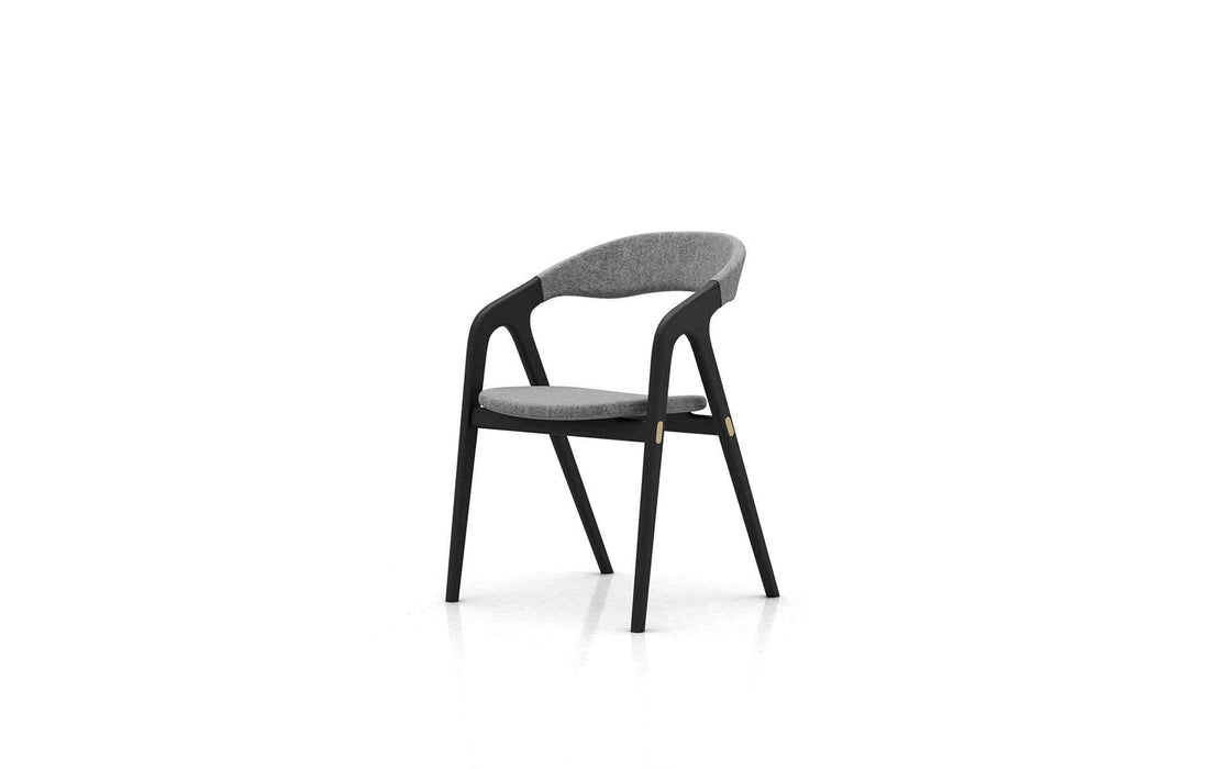 Pending - Modloft Dining Chairs Andorra Wool/Black Oak Kaede Chair - Available in 2 Colors