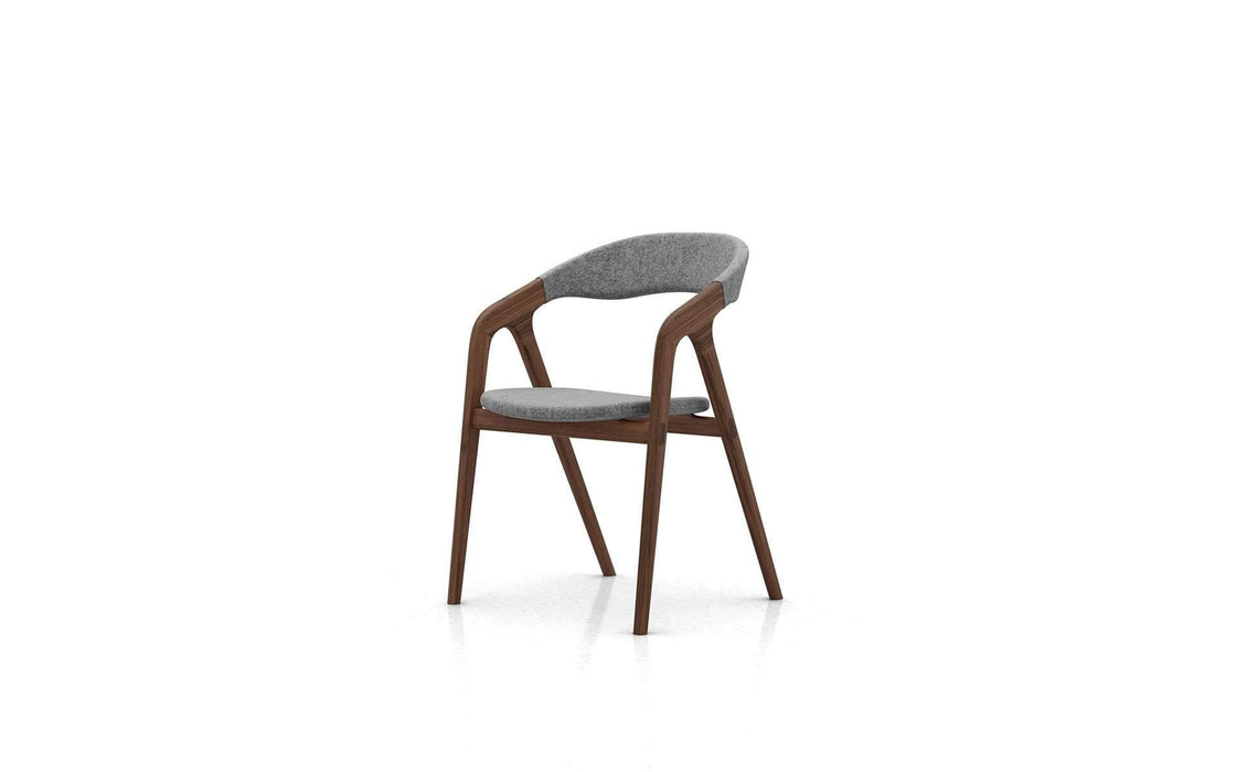 Pending - Modloft Dining Chairs Andorra Wool/Walnut Kaede Chair - Available in 2 Colors