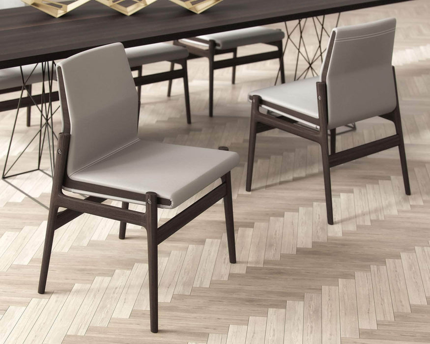 Pending - Modloft Dining Chairs Stanton Dining Chairs in Castle Gray Eco Leather