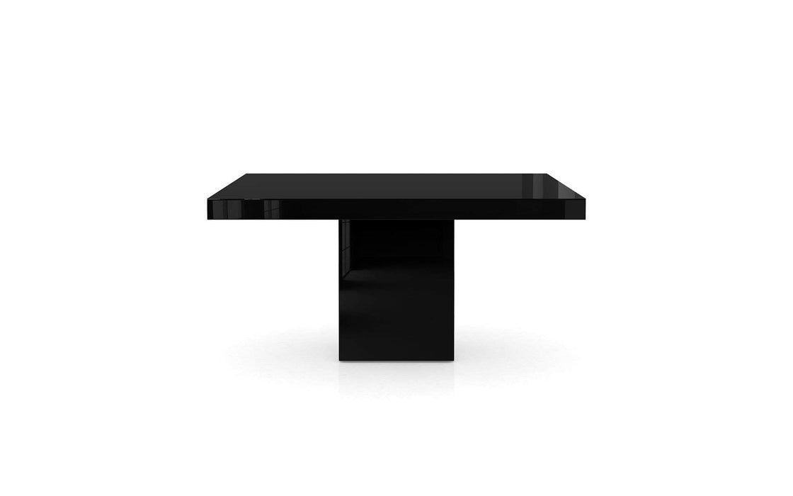 Pending - Modloft Dining Tables Black Glass Beech Dining Table - Available in 2 Colors