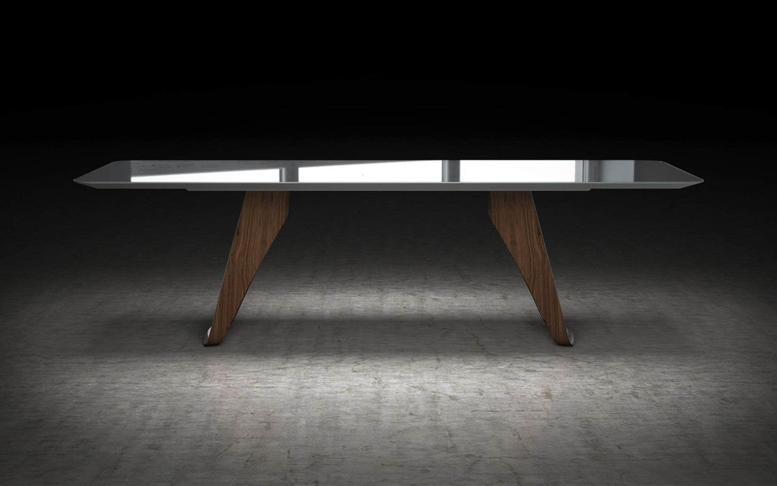Pending - Modloft Dining Tables Preston Dining Table in Titanium Glass and Walnut
