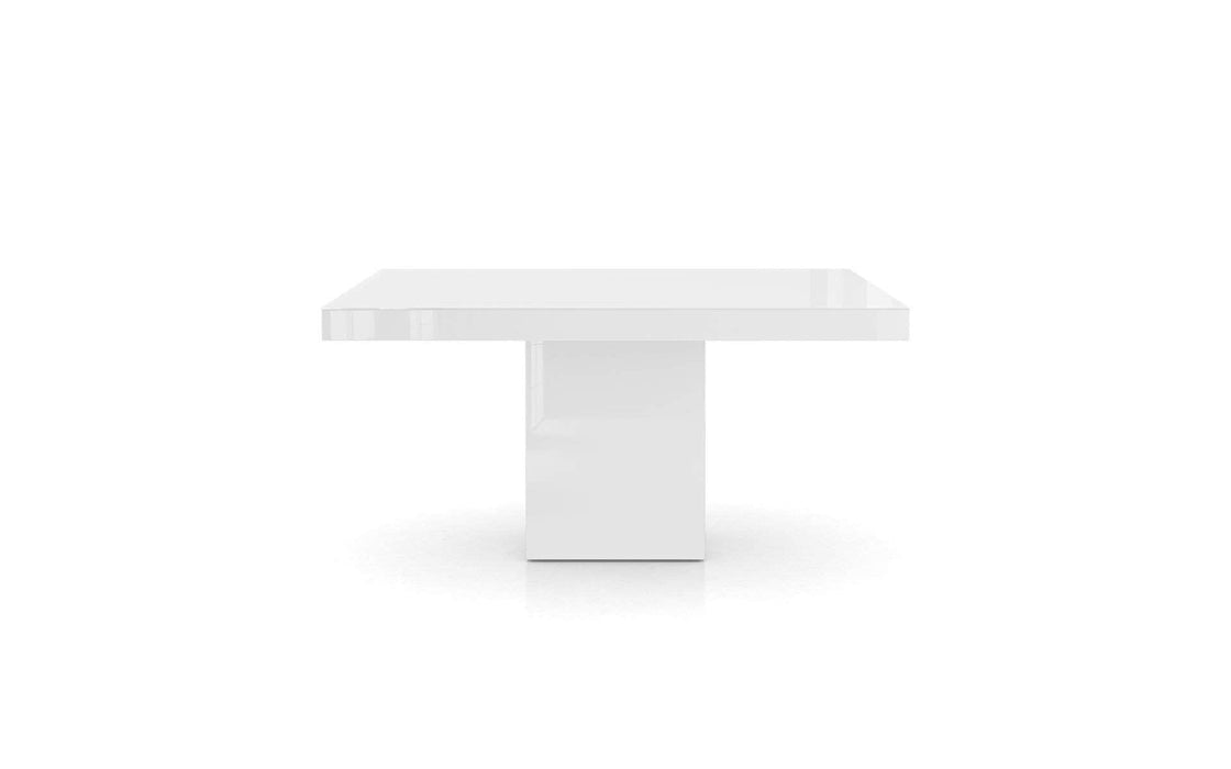 Pending - Modloft Dining Tables White Glass Beech Dining Table - Available in 2 Colors