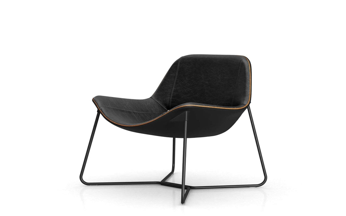 Pending - Modloft Lounge Chairs Aged Onyx Leather Oakley Lounge Chair - Available in 2 Colors