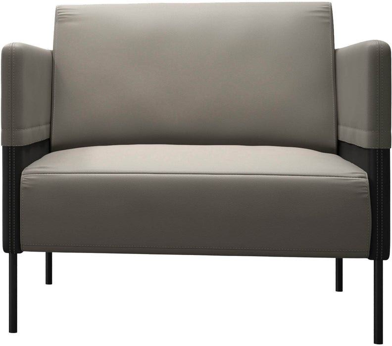 Pending - Modloft Lounge Chairs Allen Lounge Chair in Opala and Graphite Leathers