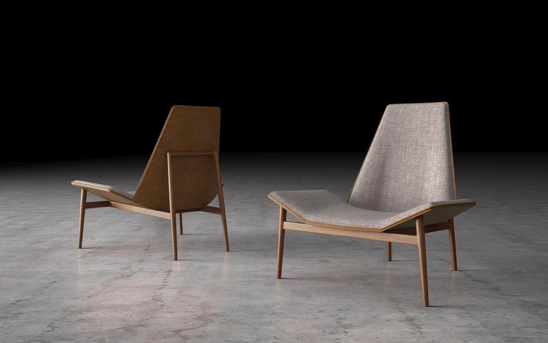 Pending - Modloft Lounge Chairs Gray Denim Kent Lounge Chair - Available in 2 Colors
