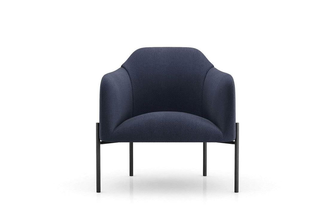 Tiemann Lounge Chair in Medieval Blue Fabric