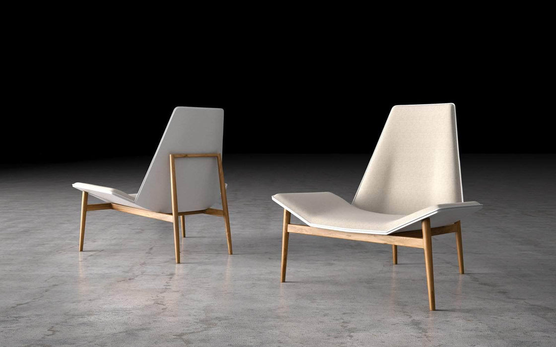 Pending - Modloft Lounge Chairs Raw Linen Kent Lounge Chair - Available in 2 Colors