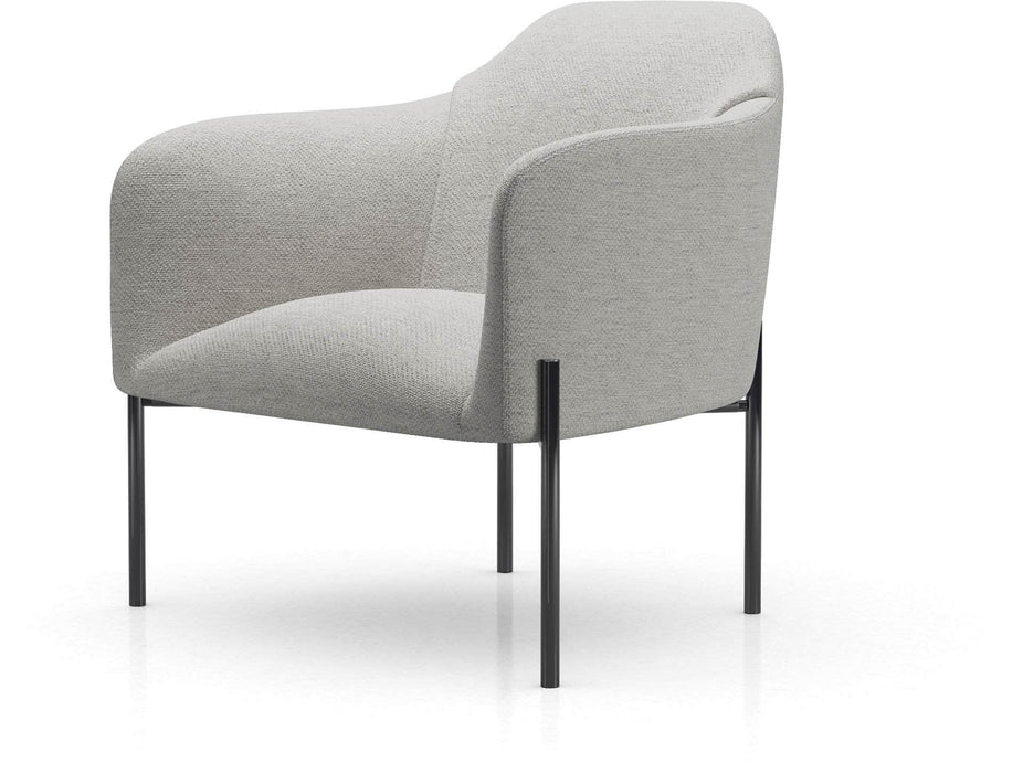 Tiemann Lounge Chair in Silver Gray Fabric