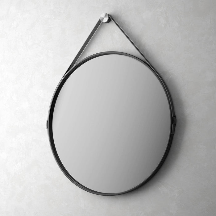"Pending - Modloft Mirrors Black Reclaimed Leather George 36"" Mirror - Available in 2 Colors"